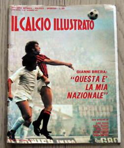 rivista sportiva IL CALCIO ILLUSTRATO Novembre 1972 n.28