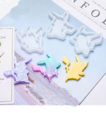 3X Pikachu Silicone Pendant Mold Jewellry Making Resin Mould Epoxy Casting Tool