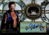 2018 Topps Legends of WWE Autograph Hall Fame Ring Diamond Dallas Page AUTO /99