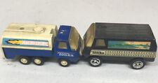 Vintage Tonka Racing Fuel Truck And Tonka Black Desert Scene Van LOT