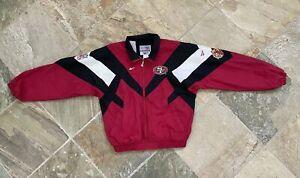 Vintage San Francisco 49ers Reebok Windbreaker Football Jacket, Size Medium