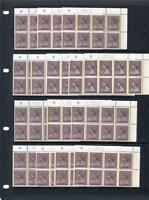 20p MACHIN UNMOUNTED MINT WADDINGTON PLATE BLOCK [CHOOSE YOUR PLATE NUMBERS]