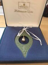 """Wedgwood Millennium Gems Green Jasper Ornament 1998 Wisdom Pearl Drop 4.5x2"""""""