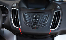 ABS Chrome Center Dashboard Air Outlet Vent Trim For Ford Kuga/Escape 2013-2017