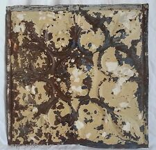 "12"" x 12"" Antique Tin Ceiling Tile *SEE OUR SALVAGE VIDEOS* Tan & Cream SG50"