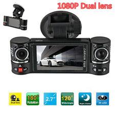 "1080P 2.7""Car Dash Camera Dual Cam Vehicle Front Rear DVR Lens HD Video Recorder"