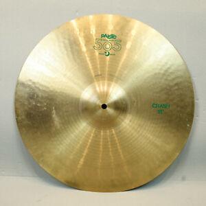"Vintage Paiste 505 18"" Crash Cymbal Vintage Green Label"