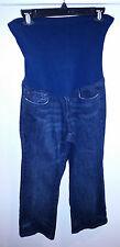 A PEA IN THE POD Designer Capri Cropped Maternity Dark Wash Jeans sz M