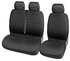 2+1 Bus Black Seat Covers Polyester Covers for Ford Iveco Benz