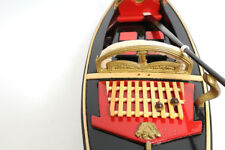 "Venetian Gondola Wooden Work Boat Model 23"" Handcrafted Fully Assembled New"