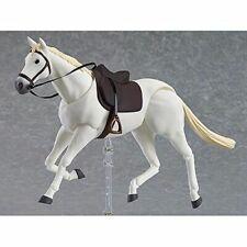"1/12th Scale 6'' figma 246b White Horse PVC Animal Scene Model F 6"" Doll Figures"
