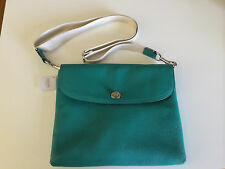 NWT Park Leather Tablet Crossbody Case Bright Jade    66159   MSRP $198