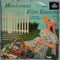 "Mantovani Film Encores No.1, 4 track Extended Play 7""– DFE 6438 – VG"