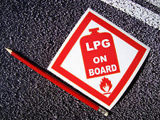 LPG Advertencia Adhesivo Calcomanía 11cm Caravana Autocaravana obras de gas van salud y seguridad
