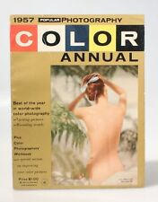 1957 POPULAR PHOTOGRAPHY COLOR ANNUAL MAGAZINE