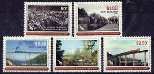 Neuseeland 2008 Eisenbahn Set Mit 5 Nicht Gefaßt Postfrisch
