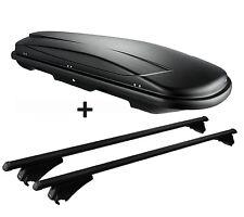 Skibox schwarz VDP JUXT 500 lit + Relingträger Alu Kia Sportage (SL) ab 2010