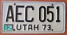 Utah 1975 License Plate HIGH QUALITY # AEC051