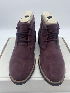 Womens Clarks Sharon Hop Burgundy Boots Size 5 Ladies