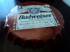 Big Retro Red Budweiser King of Beer Bottle Cap Wall Tin Metal Plate Sign Decor