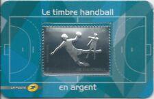 Blister 738 - Le timbre Handball en argent - 2012