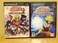 Naruto Uzumaki Chronicles & Ultimate Ninja - Complete - Black Label - PS2