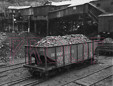 Pennsylvania Railroad (PRR) Coal Hopper 157235 at New Brunswick, NJ - 8x10 Photo