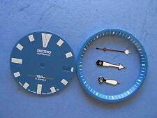 Blue Dial Hands Minute Marker Ring SET made for SEIKO DIVER 7002  NEW