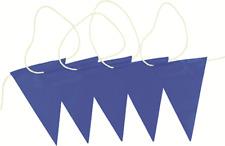 Prosafe SAFETY BUNTING FLAG 30m Roll, White Nylon Rope, UV Stabilised BLUE