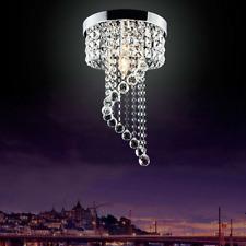 Crystal Chandelier Light Fixture, Modern LED Ceiling Glass Lighting Fixture