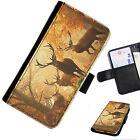 Anic 09 Impreso Cartera De Cuero / Funda libro para teléfono móvil