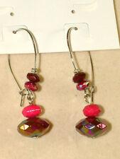 Jjb890, Lovely Dangle Earrings From Carol Dauplaise, Ab Accent Beads,For Pierced