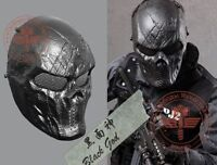 Cosplay CS Game Airsoft Paintball Metal Mesh Eye Protect Full Face Mask Skull