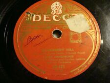 """10"""" - 78 RMP - Louis Armstrong And Gordon Jenkins - Blueberry Hill -DECCA 60.421"""