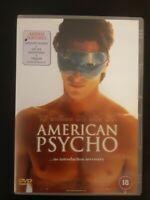American Psycho (DVD, 2000) Cert 18 Fast Free Postage + Big Value