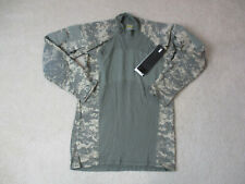 NEW Massif Army Combat Shirt Adult Small Green Camoflauge Digitial Long Sleeve
