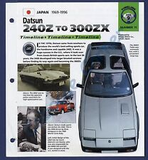 Datsun 240z To 300Zx IMP Brochure Specs 1969-1996 Group 9, No 11