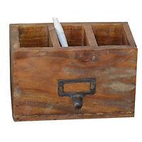 Schreibtisch Organizer Stiftehalter Holz Stifteköcher Vintage Tisch Organizer