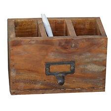 Schreibtisch Organizer Holz Holzbox Vintage Antik Massivholz Country Styl