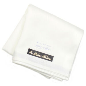 Brooks Brothers Easy Care Handkerchief 6560 White Made in Japan