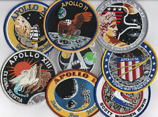 Apollo Patches Mondflüge Missionsembleme Set. 8 Embleme in ORIGINALGRÖSSE