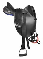 """New Design Synthetic Suede Australian Stock Horse Saddle Tack (Size-15"""" to 18)"""