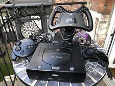Sega Saturn Konsole Inkl Spiel Panzer Dragoon 2 Spiel und Lenkrad + Controller