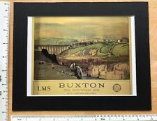 """Vintage mounted railway poster: Buxton, Derbys 1920's: 10"""" x 8"""" (reproduction)"""
