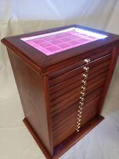 Monetiere Medagliere 15 Cassetti colore Mogano con luce LED Coins&More LEGNO