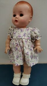 """Vintage 1950's YES NO Doll Marked PAT. PEND. Hard Plastic 11.5"""" Cute Outfit"""