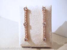 ORECCHINI diamanti brillanti champagne rosati ct 2.06 vvs /vs oro rosa 18kt