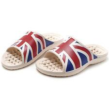 British flag the Union Jack Womens Bathroom Shoes Home Slippers Sandal US_8
