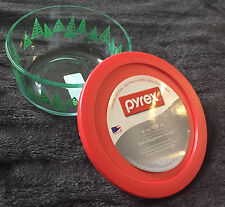 PYREX LIMITED EDITION 4 CUP 1 QUART SIMPLY X-MAS TREE STORAGE GLASS BOWL NEW