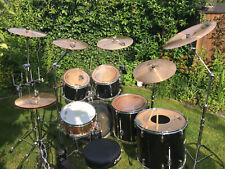 Schlagzeug Pearl Export komplett mit Hardware,Becken & Softcases - 18er Standtom